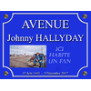 Plaque de Rue Johnny Hallyday