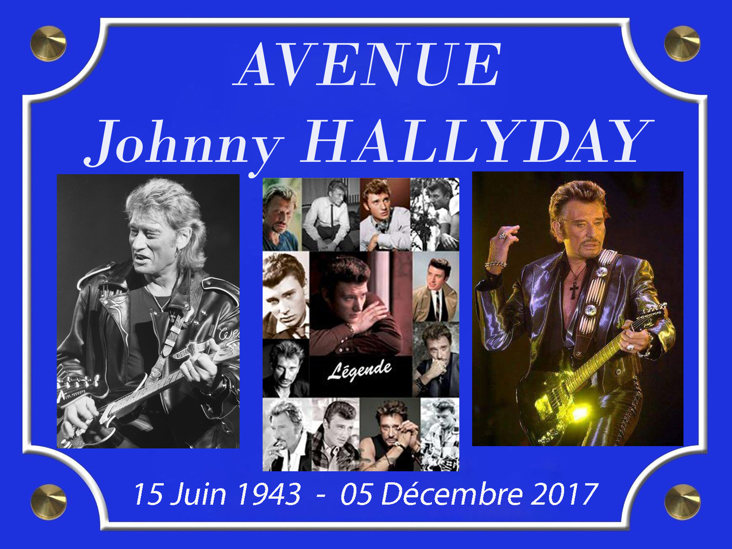 AVENUE Johnny HALLYDAY 3 PHOTO