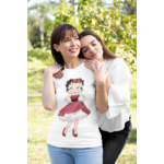T-shirt Betty Boop ROBE ROUGE A POIS