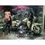 Harley davidson-flhtcu electra classic avec Betty boop