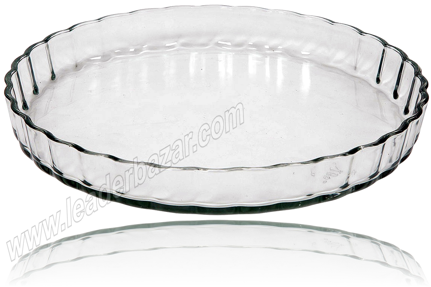 Plat à tarte en verre 2 litres