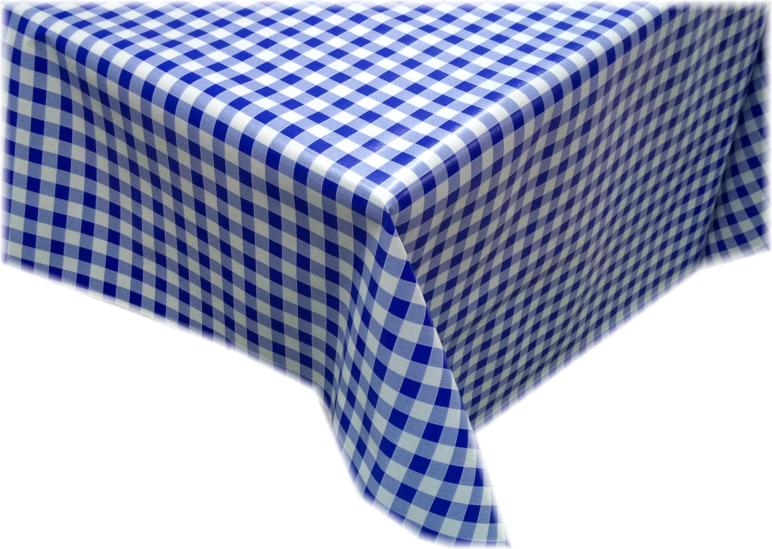 Toile cirée motif vichy bleu