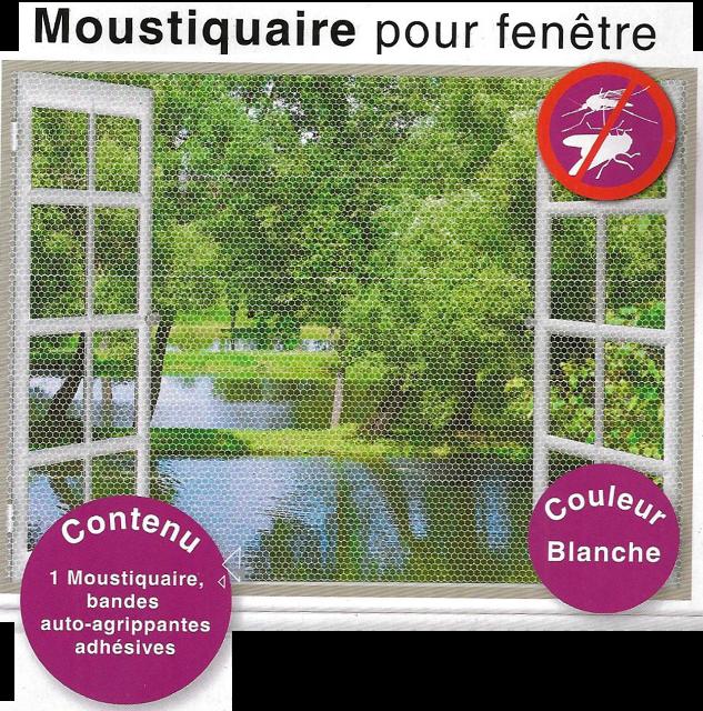 2 Moustiquaires pour fenêtre Dim : 130x150cm chacun