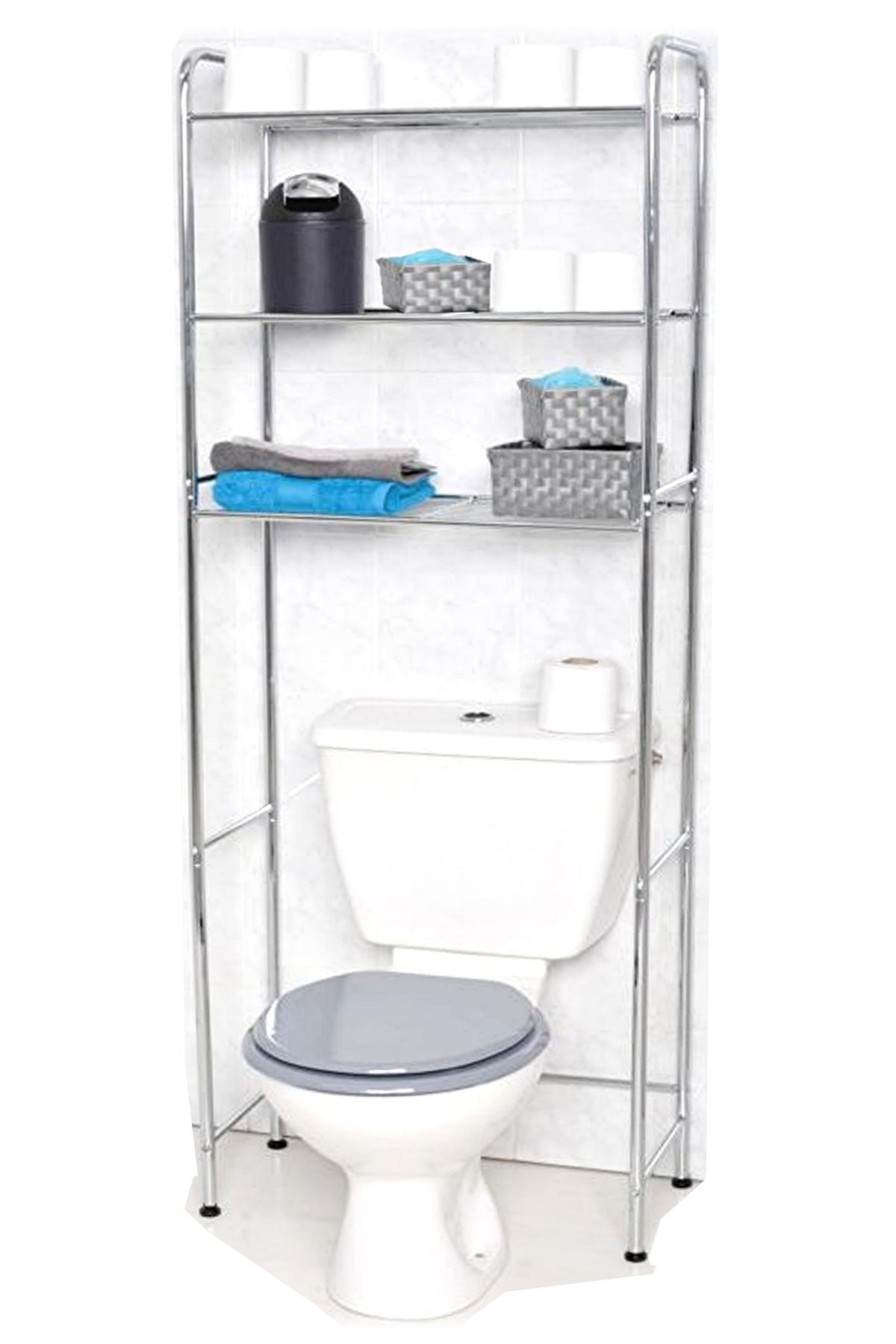 Meuble dessus de toilette WC 3 étagères
