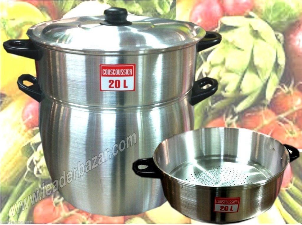 Couscoussier en alu qualité pro. 20 litres