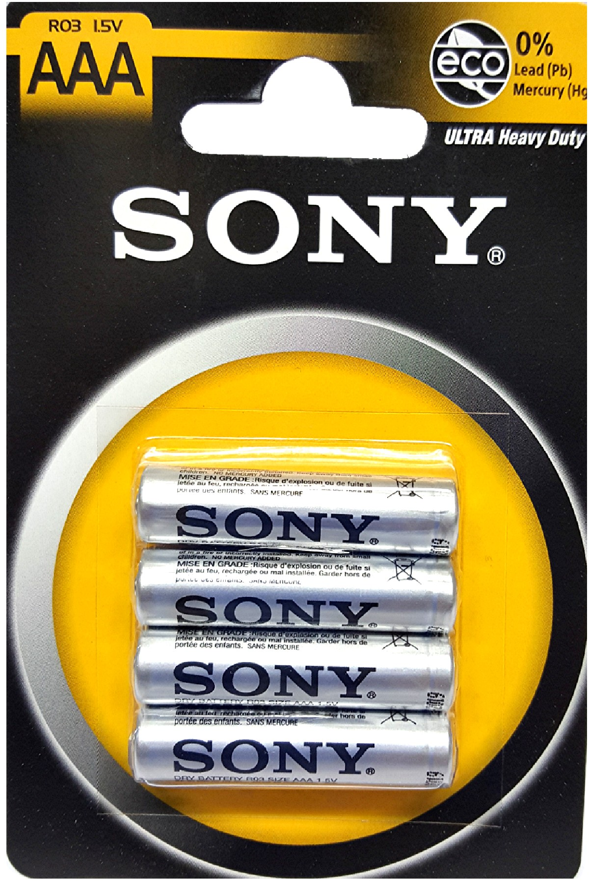 4 Piles 1.5v / AAA  R03  Sony