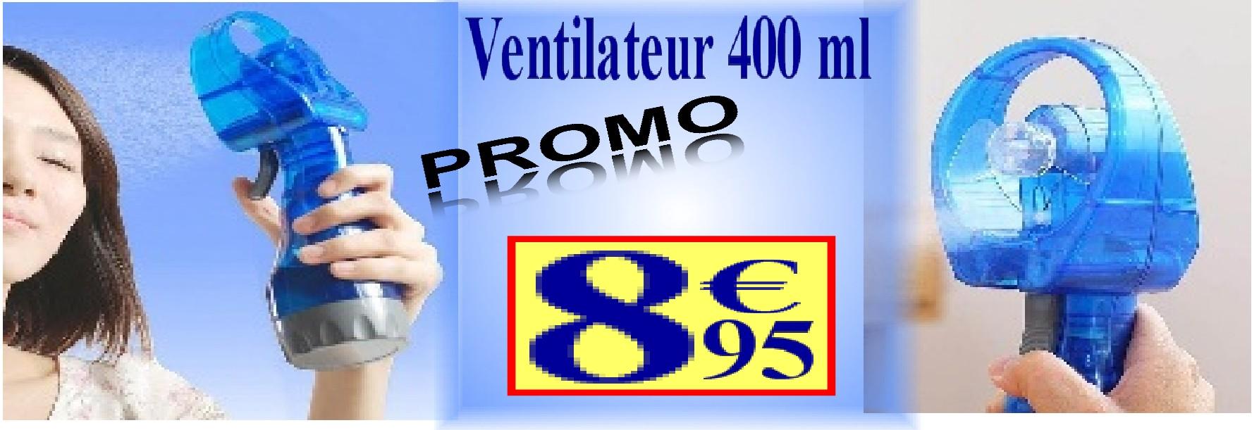 Ventilateur brumisateur portable 400 ml