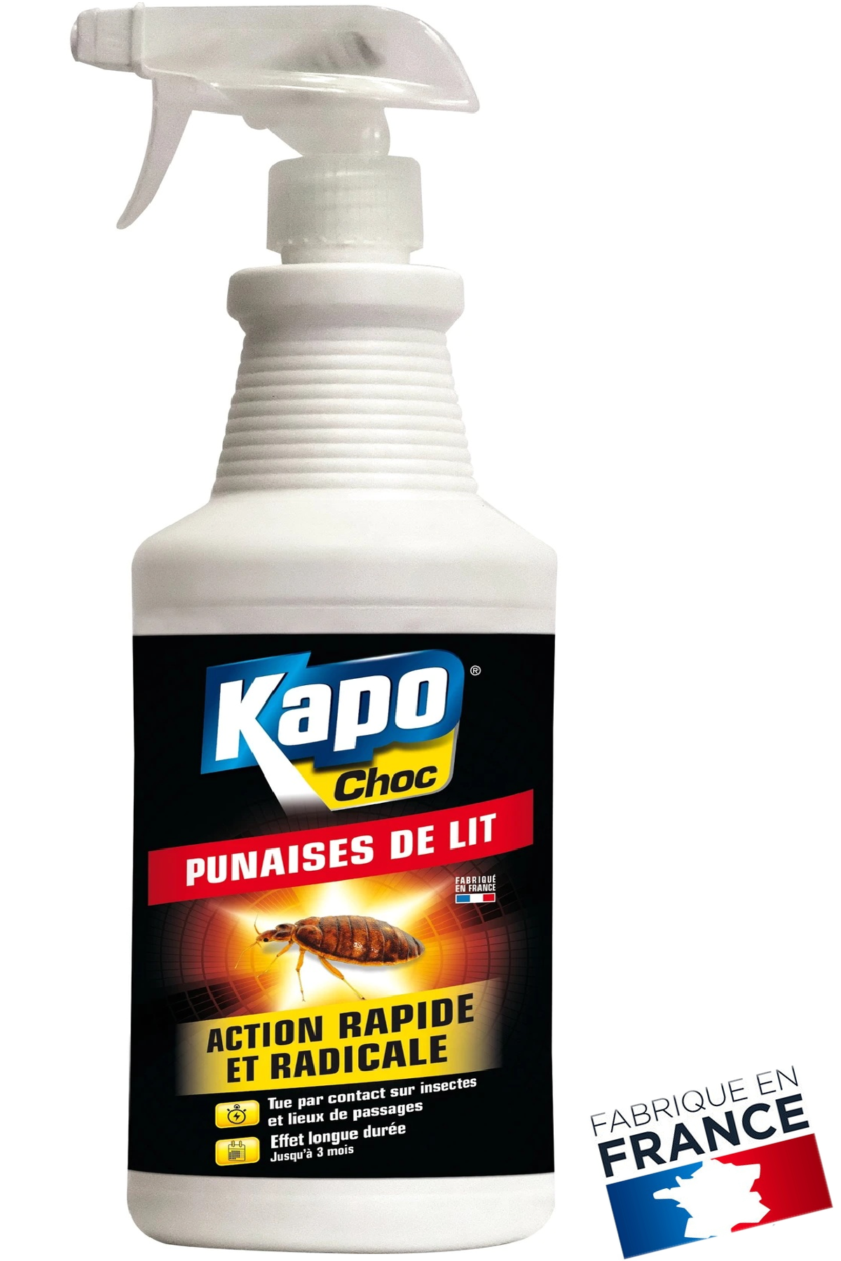 Antipunaises pulvérisateur punaises de lit KAPO, 1 litres