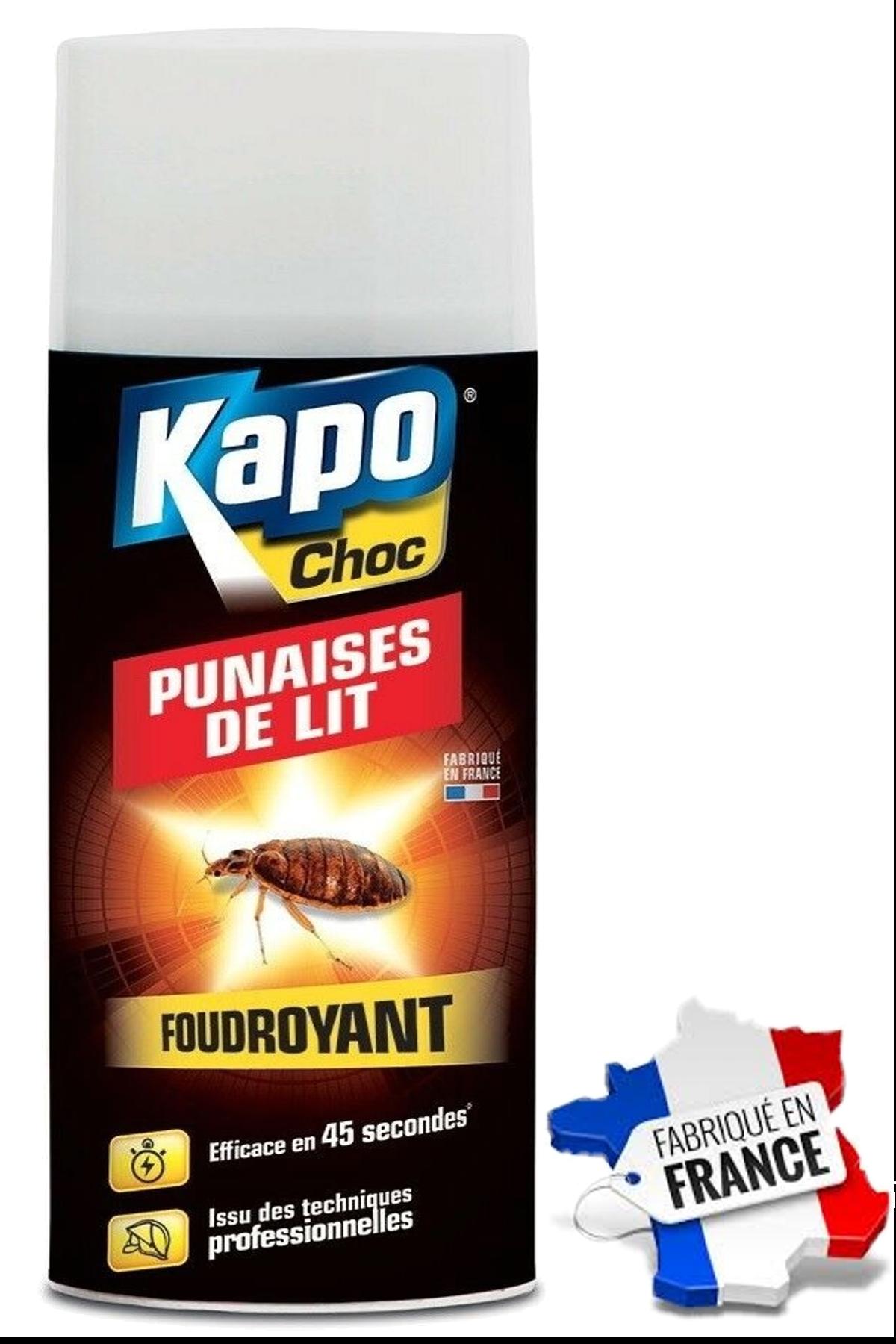 Kapo Aérosol Foudroyant Punaises de lit 400 ml