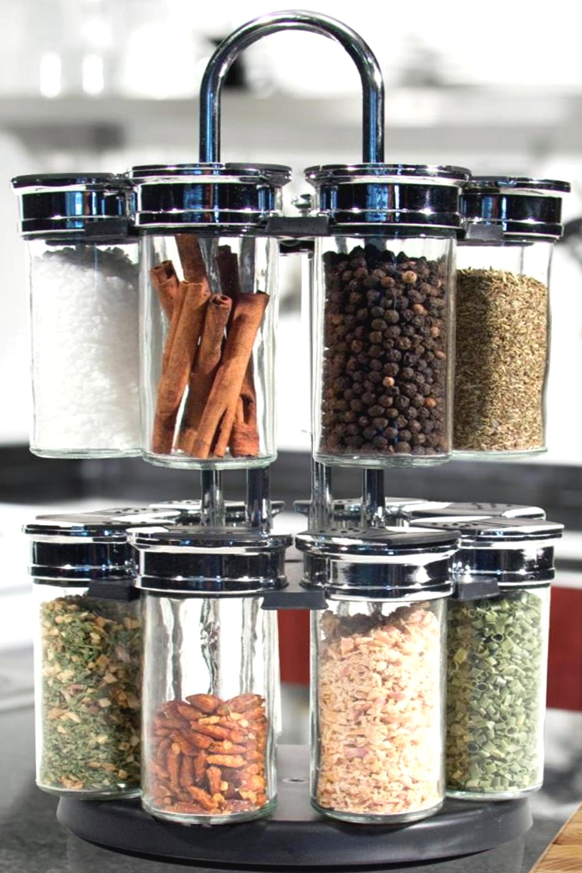 Présentoir à épices rotatif  16 pots