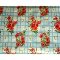 Toile, nappe cirée, linge de table motif Fleur.