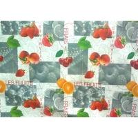 Nappe, toile cirée de table motif fruit.