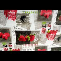Toile nappe cirée motif fraise framboise