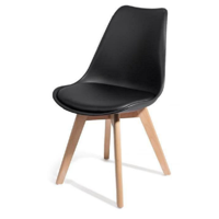 2 chaises noirs design