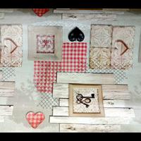 Nappe Toile cirée motif cœur clés
