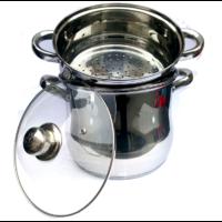 Couscoussier 12 litres en inox tout feux