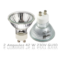 2 Ampoules  halogènes  50 W  230V GU10