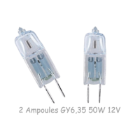 2 Ampoules GY6,35 50w 12v