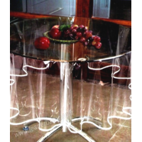 Nappe Transparente ronde avec bordure Diamètre 180cm