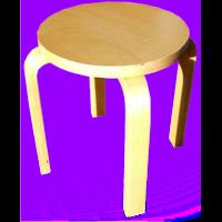 tabouret bois rond hauteur 30cm