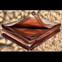 Bâche lourde spéciale bois 140g/m² - 2 x 8m