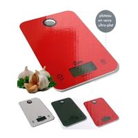 Balance de cuisine digitale 23x15x1,8cm précision 1g