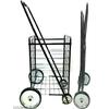 Chariot de courses 4 roues métal pliable