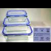 3 boîtes de conservation en verre multifonction avec couvercle