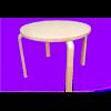 Table en bois rond diam. 60cm