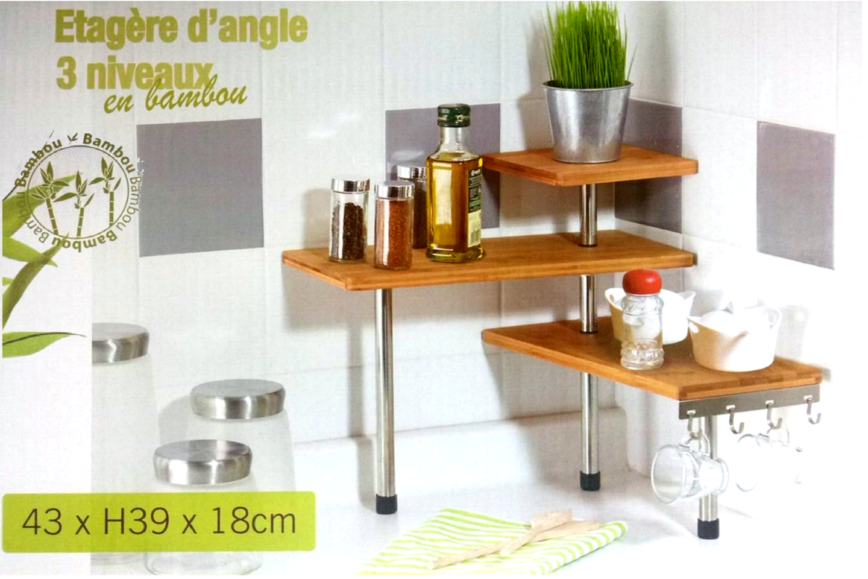 Etagere angle cuisine good meuble angle cuisine leroy - Etagere murale en verre ikea ...