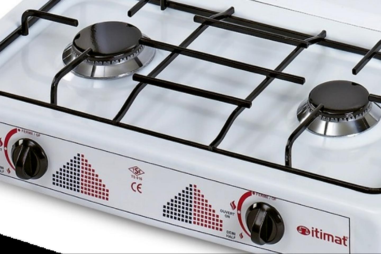 plaque de cuisson 2 feux au gaz butane ustensile de cuisine r chaud gaz leaderbazar. Black Bedroom Furniture Sets. Home Design Ideas