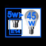 AMPOULE E14 LED 1