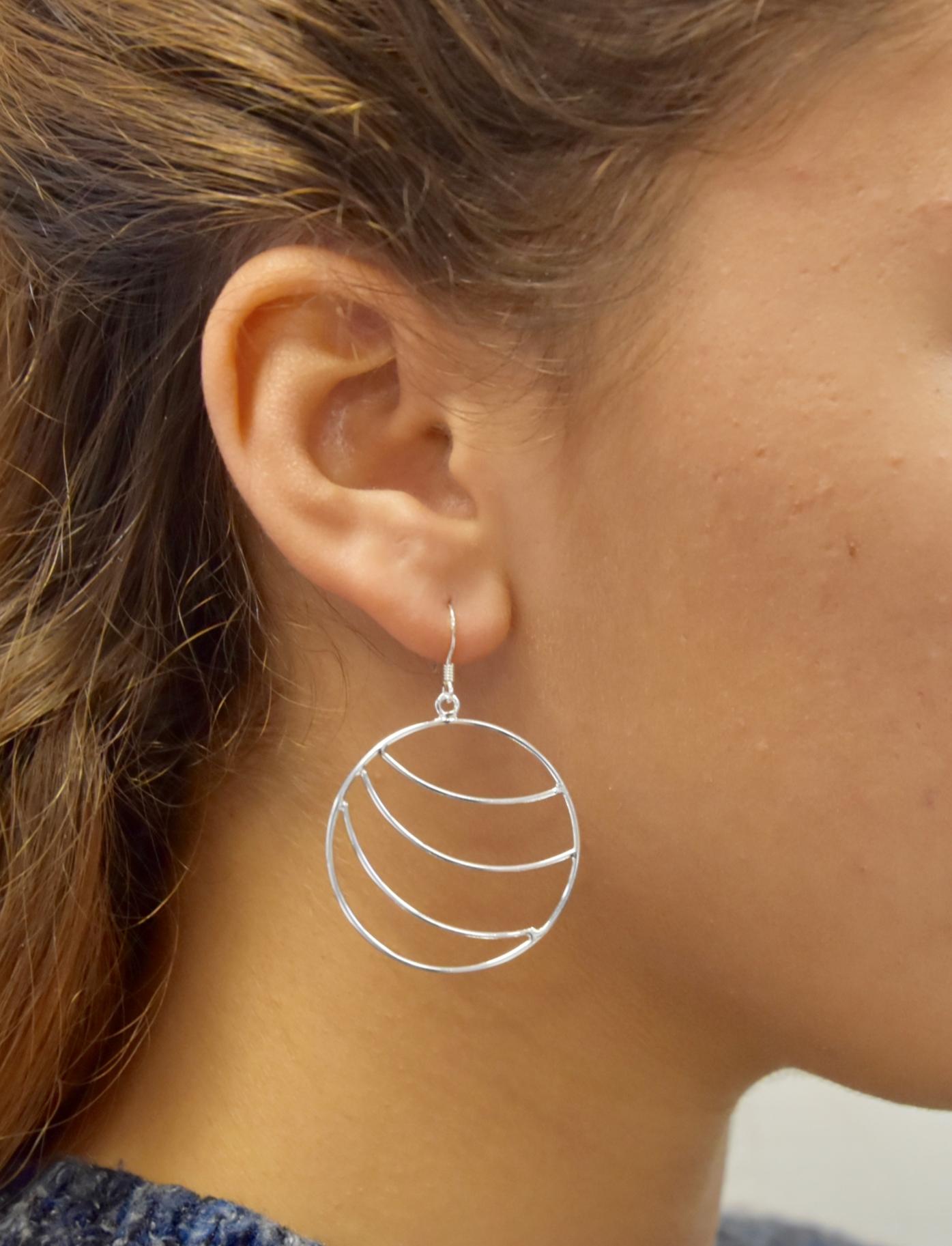 Boucles d\'oreilles créoles - LILOU