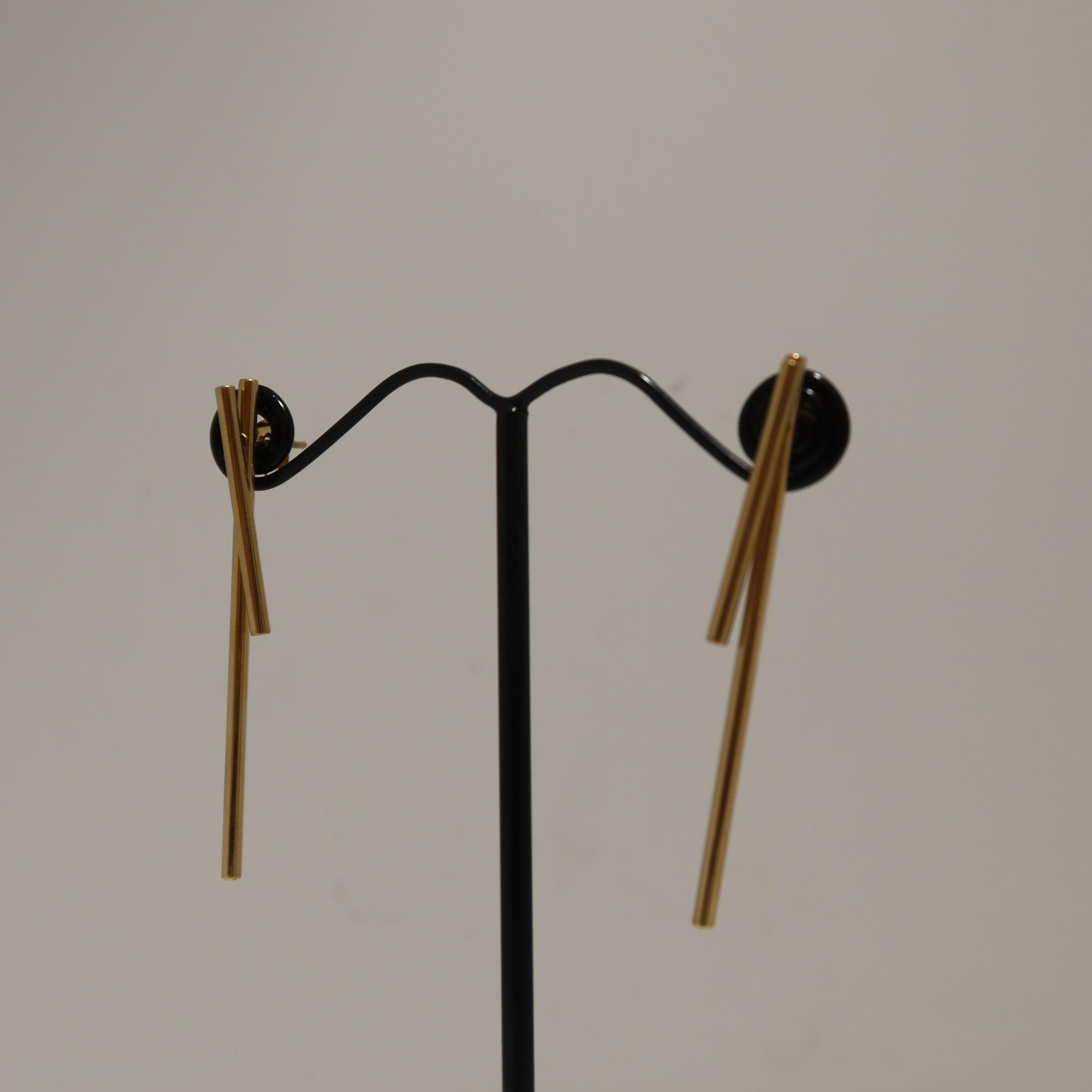 Boucles d\'oreilles dorées - NILL