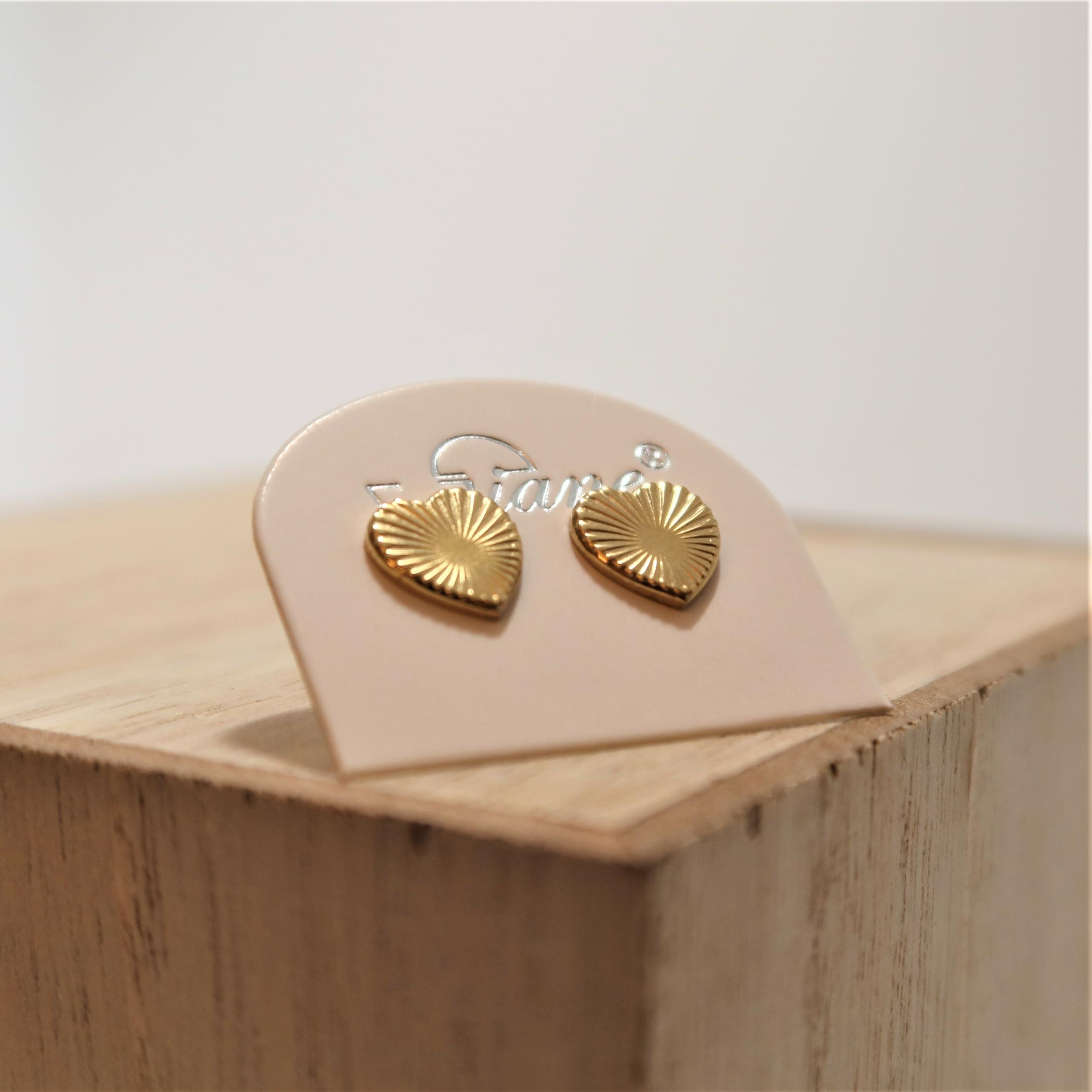 Boucles d\'oreilles puces acier COEUR