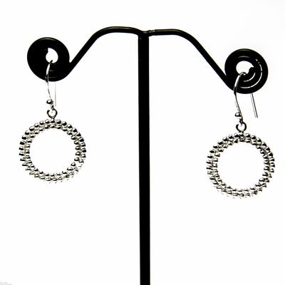 Boucles d'oreilles argent cercles