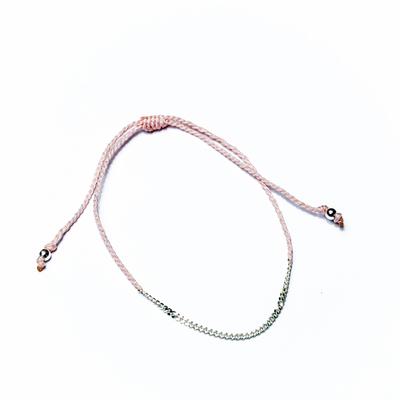 Bracelet lien chaine argent - COLOR