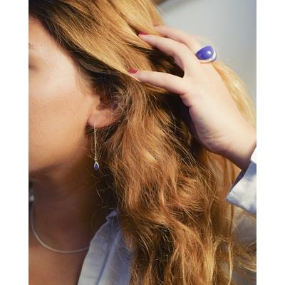Boucles d'oreilles traversantes goutte Ultra-violet- VIOLETA