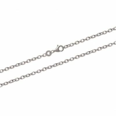 Chaine argent, maille fine forçat, 90 cm