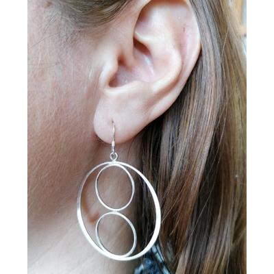 Boucles d'oreilles Créoles - EVA