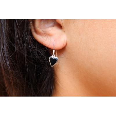 Boucles d'oreilles en argent - AMOUR