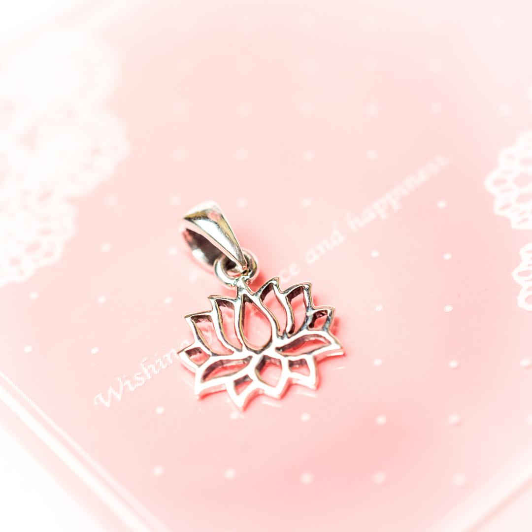 pendentif argent - Petit lotus