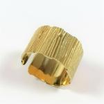 Bague acier doré ajustable MAE (2)