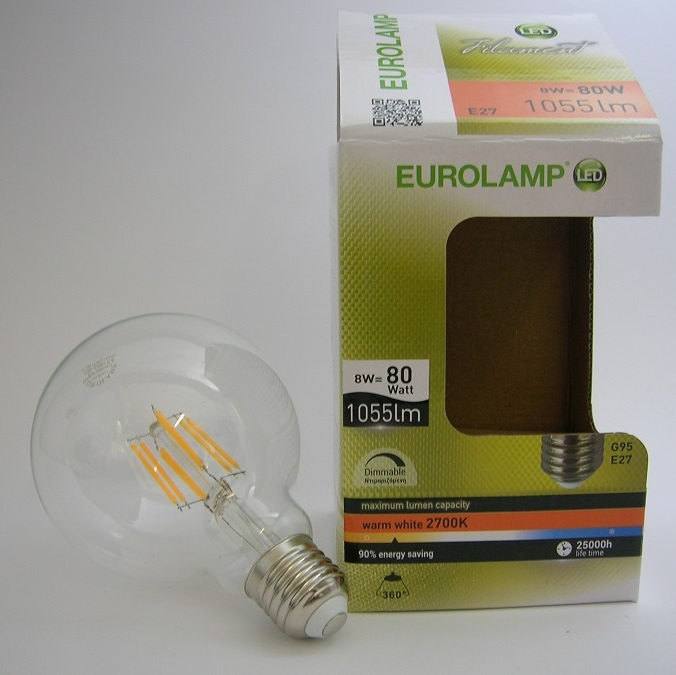 Ampoule LED Filament Globe G95 8W Gradable