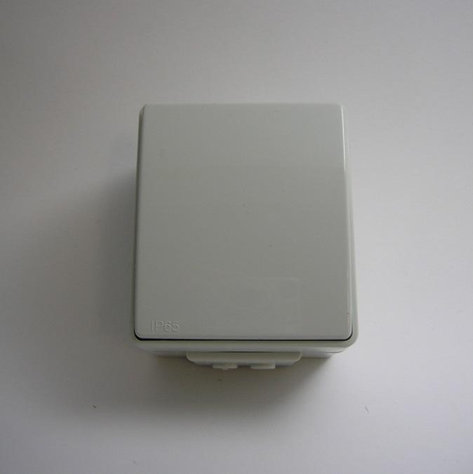 Poussoir à bascule IP65 Gris ou Blanc