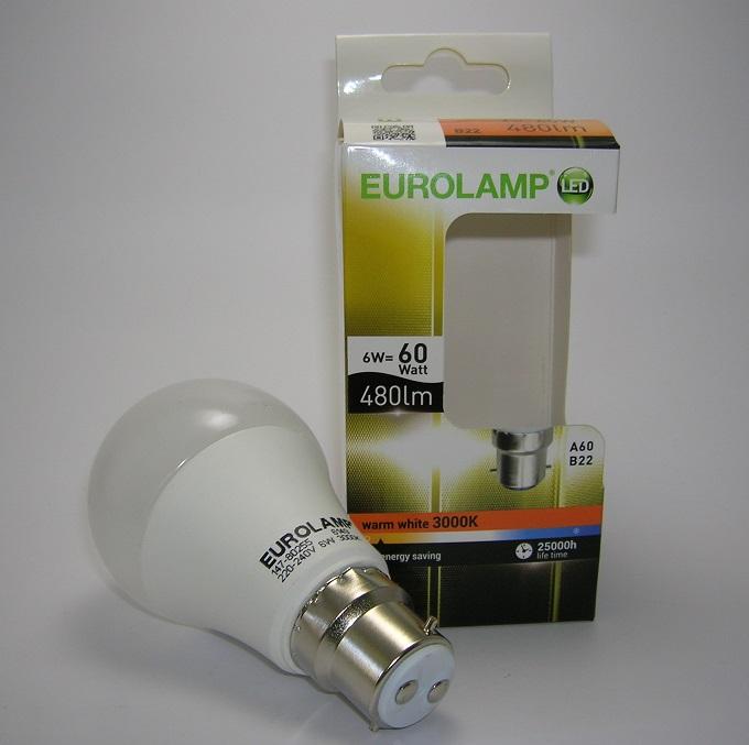 Ampoule LED A60 B22 6W