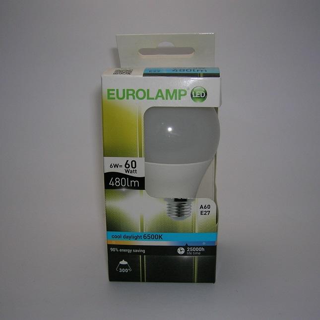 Ampoule led A60 6W E27 6500 kelvin eurolamp