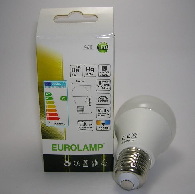 Ampoule led A60 E27 6W Eurolamp-2