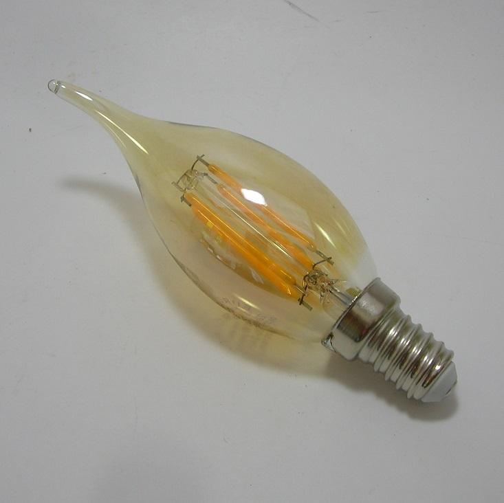 Ampoule LED Filament coup de vent Gold Eurolamp