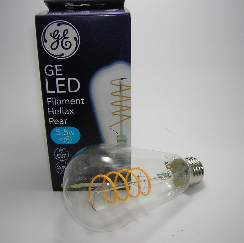 LED Filament Heliax Claire Pear 5,5W Gradable E27